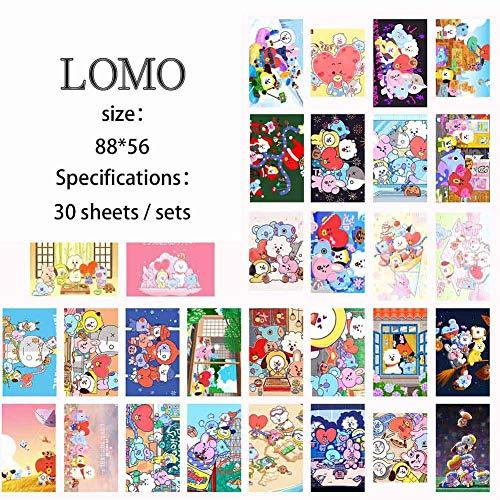 fancyku kpop bts lomo card bangtan boys paper photocard rap monster jimin jin suga j hope jungkook v lomo cards set best gift for armystyle 03 bts 30 pcs sports