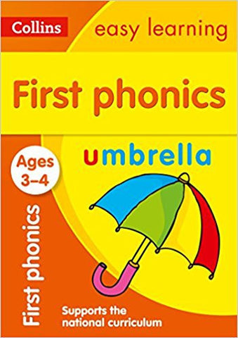First Phonics Ages 3-4: Collins Easy Learning (Collins Easy Learning Preschool)-Books-TBHPD-Helmetdon