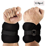 Fitsy Adjustable Wrist And Ankle Weights, 2 X 1.5 Kg-Sports-Fitsy-Helmetdon