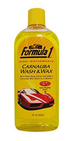 Formula 1 Carnauba Wash and Wax Shampoo (236 ml)-Wash & Wax-Formula 1-Helmetdon