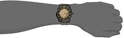Auto Dial Watch Commuter Me3158 Analog Men's The Fossil Black 54AjL3Rqc