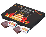 Funny Birthday Invitation to Send|Personalised Galaxy Chocolate|Custom Presents|What to Have Delivered for a Birthday|Personalised Chocolate Bars for Children (12 Chocolates Box)-Grocery-Choco ManualART-Helmetdon