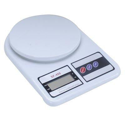 GadgetBucket Electronic Kitchen Digital Weighing Scale 10 Kg Weight Measure Liquids Flour,White-Home & Kitchen-Gadget Bucket-Helmetdon
