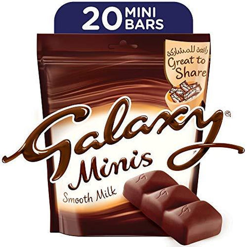 Galaxy Minis Smooth Milk 20 Bars Pack - 250G-Grocery-Galaxy-Helmetdon