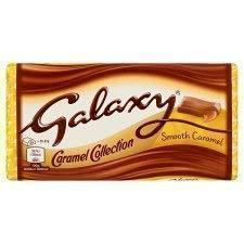 Galaxy Smooth Caramel Collection Milk Chocolate Bar, 135g, Free Silver Plated Coin and ChocoKick Eco Friendly Pen-Grocery-Galaxy-Helmetdon