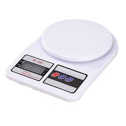 Generic SF400 Electronic Kitchen Digital Weighing Scale, Multipurpose (White, 10 Kg)-BISS Basic-Generic-Helmetdon