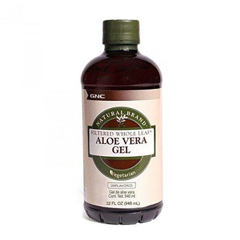 GNC Aloe Vera Gel - 32 oz, 946 ml (Unflavoured)-Health and Beauty-GNC-Helmetdon