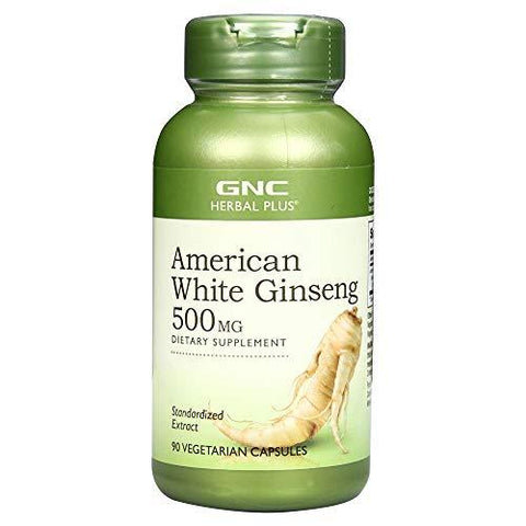 GNC American Ginseng 500 mg - 90 Capsules-Health and Beauty-GNC-Helmetdon