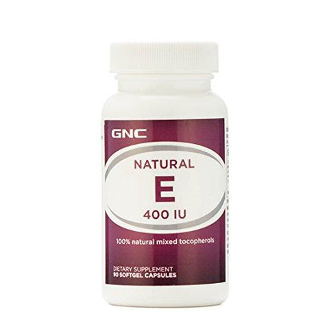 GNC Natural E 400 IU 100% with Natural Mixed Tocopherol (100 Softgel Capsules)-Health and Beauty-GNC-Helmetdon