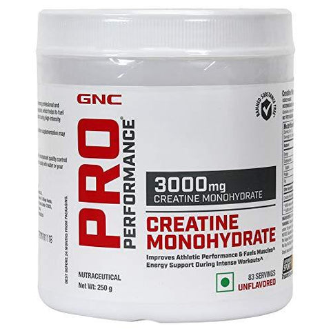 GNC Pro Performance Creatine Monohydrate 3000Mg Supplement - 250 g-Health and Beauty-GNC-Helmetdon