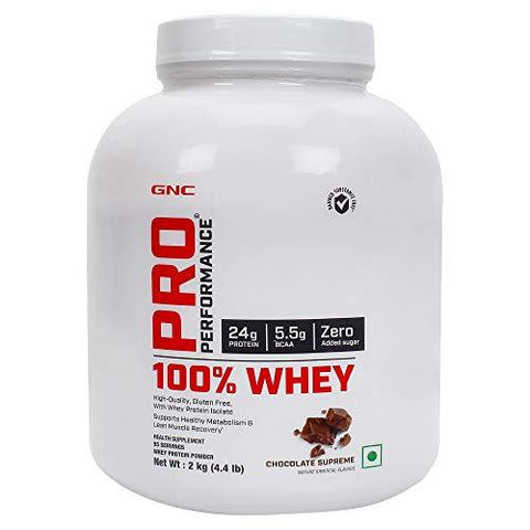 GNC Pro Performance Whey Protein (Chocolate Supreme, 4.4 lbs/2 Kg)-Health and Beauty-GNC-Helmetdon