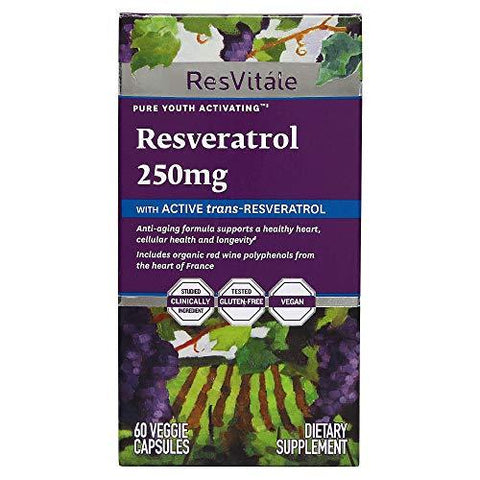 GNC Resvitale Resveratrol 250 mg - 60 Capsules-Health and Beauty-GNC-Helmetdon