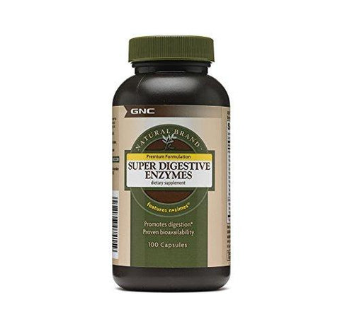 GNC Super Digestive Enzyme - 100 Capsules-Health and Beauty-GNC-Helmetdon