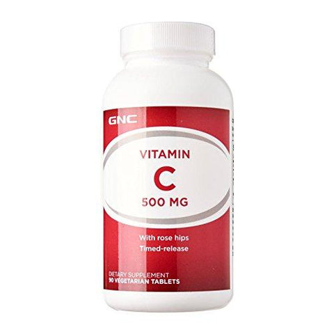 GNC Vitamin C TR Tab 500mg 1x90-Health and Beauty-GNC-Helmetdon