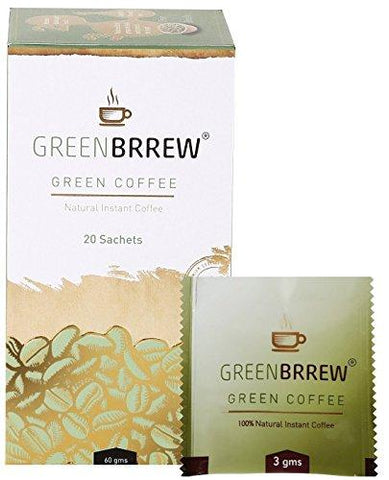 Greenbrrew Instant Green Coffee for Weight Management - 20 Sachets, Each 3g (Easy to use)-Health and Beauty-GreenBrrew-Helmetdon