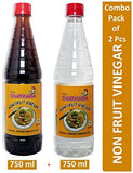 GSA's Chatkara Non Fruit White and Black Vinegar (750 ml) -Combo Pack of 2-Grocery-GSA's Chatkara-Helmetdon