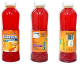 GSA's Chatkara® Orange (750ml+750ml) Syrup Squash Sharbat for Drink/Milkshake/Falooda/Ice-Cream/Lassi/Liquids/Juice/Soda/Cocktails/Milk Powder. Pack of 2 Bottles.-Grocery-GSA's Chatkara-Helmetdon