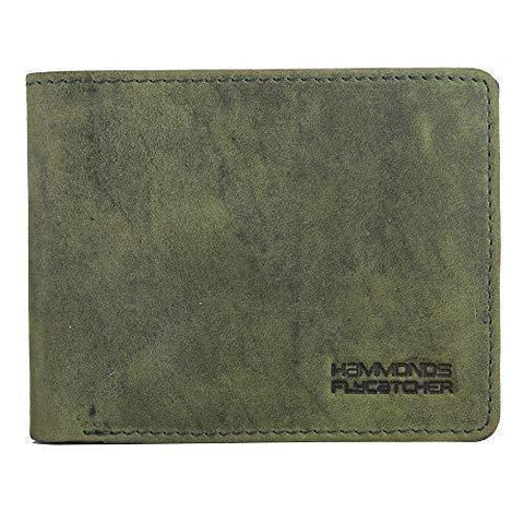 Hammonds Flycatcher Moss Green Leather Wallet for Men|3 Card Slots| 1 Coin Pocket|2 Hidden Compartment|2 Currency Slots-Luggage-HAMMONDS FLYCATCHER-Helmetdon