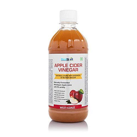 HealthVit Apple Cider Vinegar with Mother Vinegar, Raw, Unfiltered and Undiluted - 500 ml-Health and Beauty-HealthVit-Helmetdon