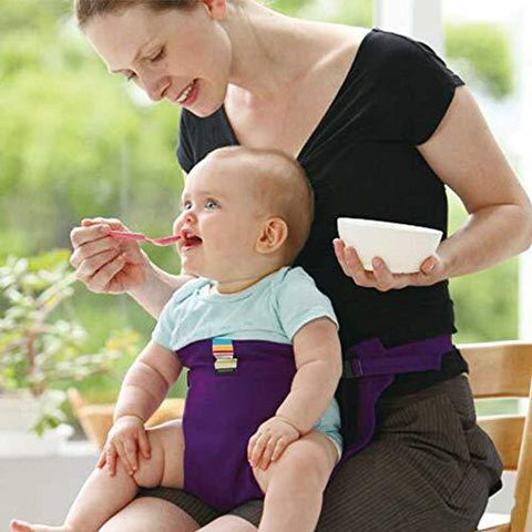 HOLIFE Portable Stretch Feeding Chair Baby Safety Belt (Black)-Baby Product-HOLIFE-Helmetdon