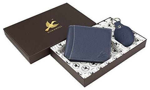 HORNBULL Leather Navy Men's Wallet and Key Ring-Luggage-HORNBULL-Helmetdon
