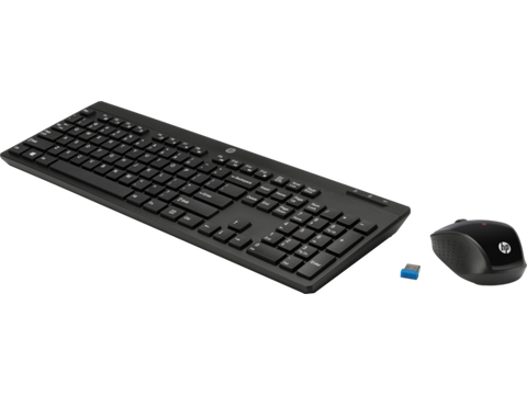 HP-200 Wireless Keyboard and Mouse Combo (Black)-Computers and Accessories-HP-Helmetdon