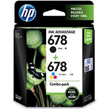 HP 678 Combo-pack Black and Tri-color Ink Advantage Cartridges (L0S24AA)-Computers and Accessories-HP-Helmetdon