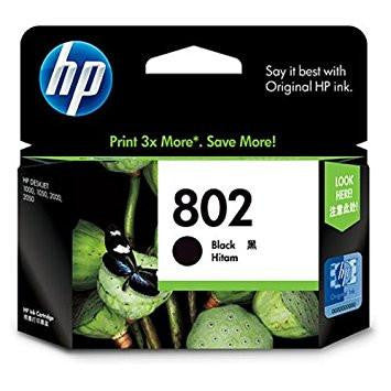 HP 802 Ink Cartridge - Black (CH563ZZ)-Computers and Accessories-HP-Helmetdon