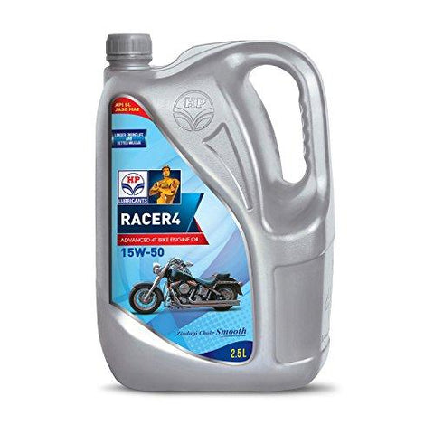 HP Lubricants Racer4 15W-50 API SL Engine Oil for Bikes (2.5 L)-HP Lubricants-Helmetdon