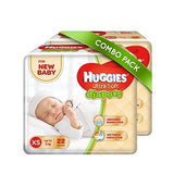 Huggies Ultra Soft Combo, X-Small Diapers (Pack of 2, 22 Count) and Wipes (72 Count)-Baby Product-Huggies-Helmetdon