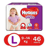 Huggies Wonder Pants Diapers, Large (Pack of 46)-Baby Product-Huggies-Helmetdon