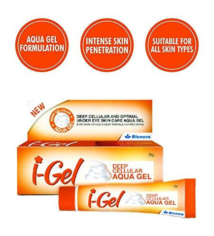 I GEL Unisex Under Eye Cream For Removing Dark Circles, 25 gms