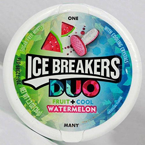 Ice Breakers Duo Fruit + Cool Sugar Free Mint, Watermelon, 36g (Pack fo 2)-Grocery-Ice Breakers-Helmetdon