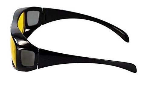 b54cbde7fa48 Inditradition HD Vision Wraparound Driving Glasses | Pack of 2, Day & Night  Glasses,