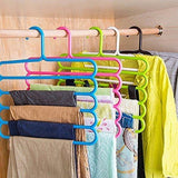 Inditradition Wardrobe Cloth Hangers | 5 Layer Space Saving Hangers, Pack of 4 (Multi-Color)-Home-Inditradition-Helmetdon