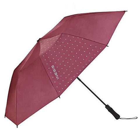 Inesis Golf Umbrella 100 - Burgundy-Sports-Inesis-Helmetdon