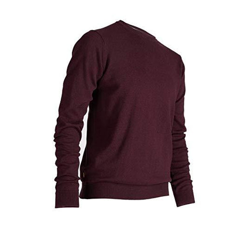 Inesis Men's Golf Mild Weather Crew Neck Sweater Burgundy-Sports-Inesis-Helmetdon