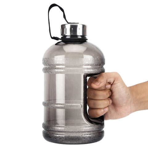 iShake 2.2 Litre/1.89 Litre Gallon Water Bottle, PETG Eco-Friendly Sports Fitness Exercise Water Jug for Gym, Yoga, Running, Outdoors, Cycling, and Camping.-Sports-IShake-Helmetdon