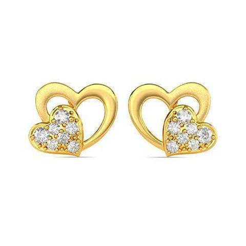 Joyalukkas 22KT Yellow Gold Stud Earrings for Girls-Jewelry-Joyalukkas-Helmetdon
