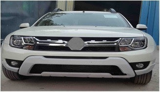 Kardzine Front Bumper Extension New Renault Duster Silver Painted-car accessories-kardzine-Helmetdon