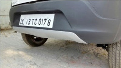 Kardzine Front & Rear Bumper Extension (Silver Painted) for Renault Kwid-car accessories-kardzine-Helmetdon