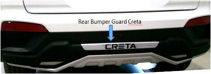 Kardzine Rear Bumper Guard For Hyundai Creta (Painted Black & Silver)-car accessories-kardzine-Helmetdon