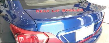 Kardzine Rear Lip Spoiler For Hyundai Xcent (Painted Black or Silver)-car accessories-kardzine-Black-Helmetdon