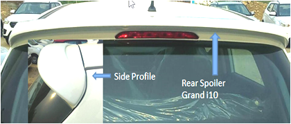 Kardzine Rear Spoiler For Hyundai i10 Grand (Painted Black or Silver)-car accessories-kardzine-Helmetdon