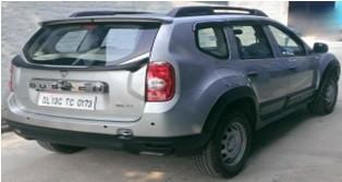 Kardzine Tailgate Spoiler For Renault Duster (Painted Black or Silver)-car accessories-kardzine-Helmetdon