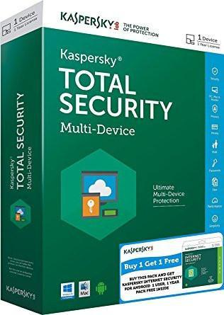 Kaspersky Total Security Combo Pack - 1 User, 1 Year (CD) + Kaspersky Internet Security for Android-Computers and Accessories-Kaspersky-Helmetdon