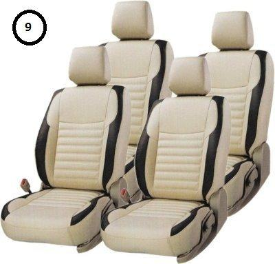 Khushal Leatherite Car Seat Cover For Maruti Alto 801 Front And Back Seat Covers Set in Best Quality Faux Leather KS003MA800-KHUSHAL-Helmetdon