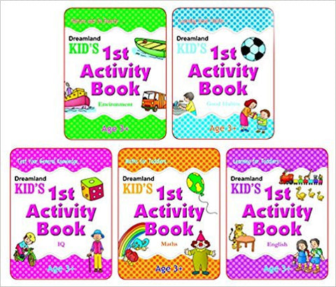 Kid's Activity Age 3+ - Pack (5 Titles)-Books-TBHPD-Helmetdon