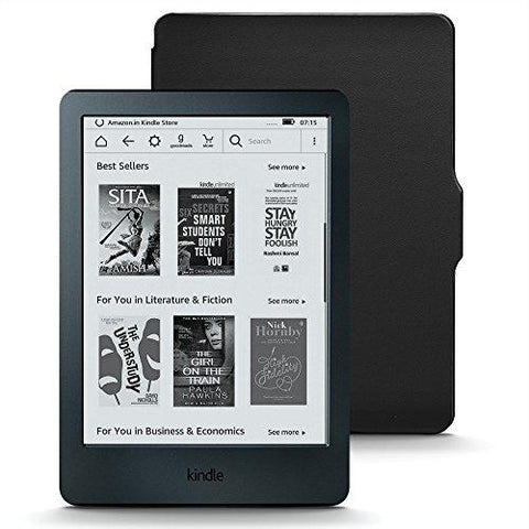 Kindle Starter Pack with All-New Kindle E-Reader - Black (MRP Rs 5,999), NuPro SlimFit Cover for Kindle (MRP Rs 999)-Amazon-Helmetdon
