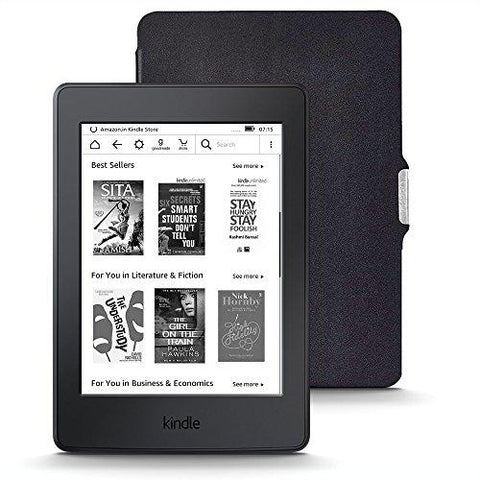 Kindle Starter Pack with Kindle Paperwhite WiFi E-Reader - Black (MRP Rs 10,999), NuPro SlimFit Cover for Kindle Paperwhite (MRP Rs 1,299)-Amazon-Helmetdon